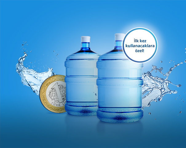 BiSU'da BKM Express ile ilk 2 su siparişin 1'er lira!