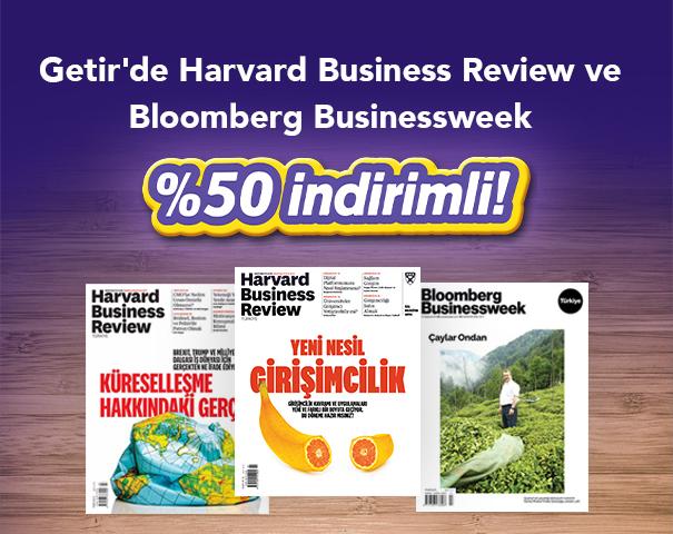 Getir'de Harvard Business Review ve Bloomberg Businessweek %50 İndirimli!