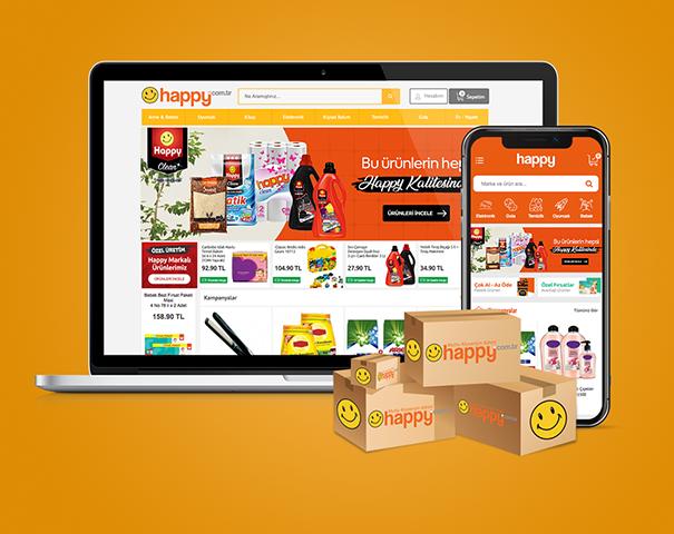 happy.com.tr'de 150 TL ve üzeri alışverişlerde anında 15 TL indirim!