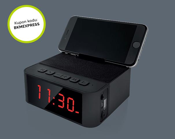 Home Time Bluetooth Hoparlör ve Saat Sadece 125 TL ve Kargo Bedava!